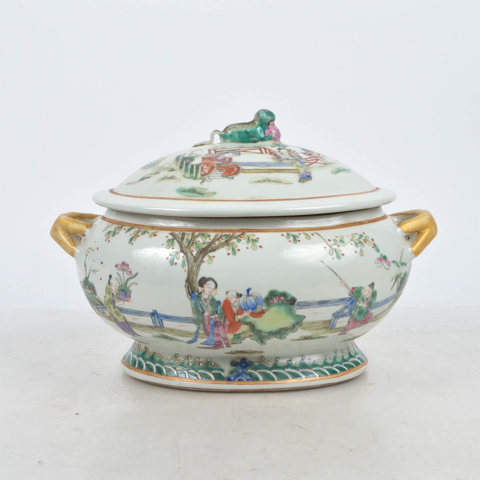 Chinese Porcelain Lidded Tureen