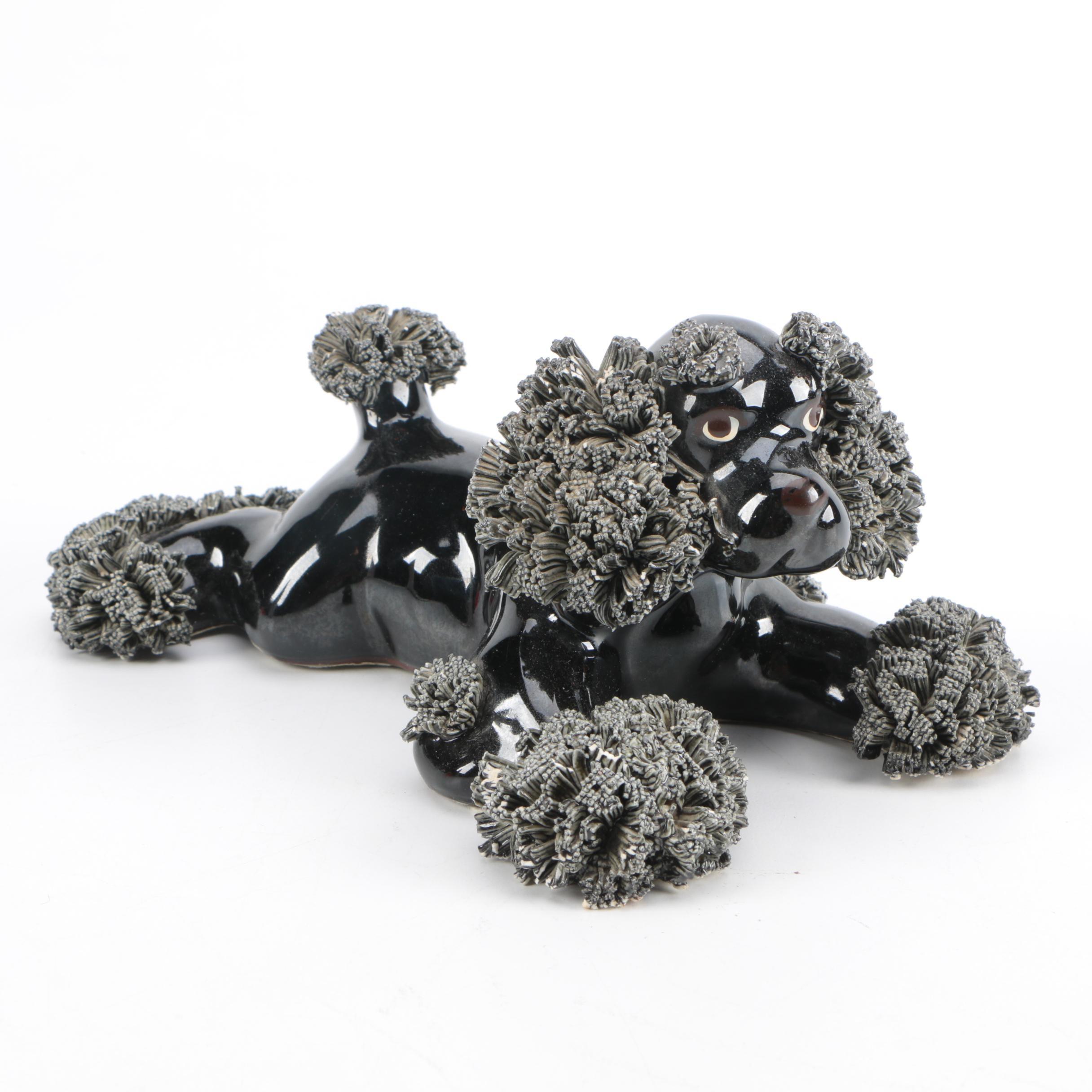 Vintage Spaghetti Poodle Figurine