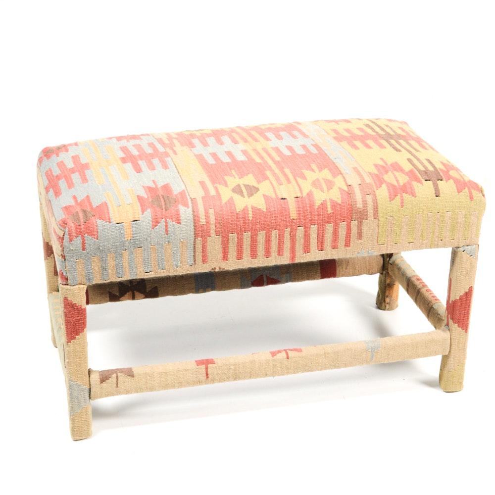 Decorative Kilim Upholstered Bench