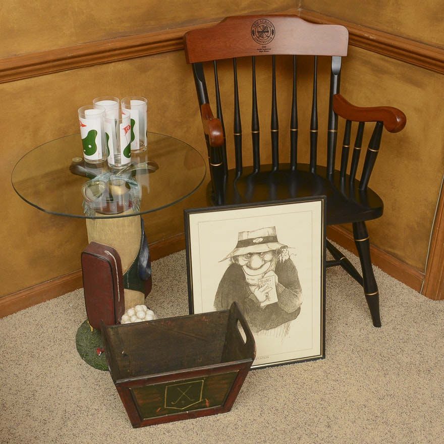 Golf Themed Table Chair And Decor Ebth