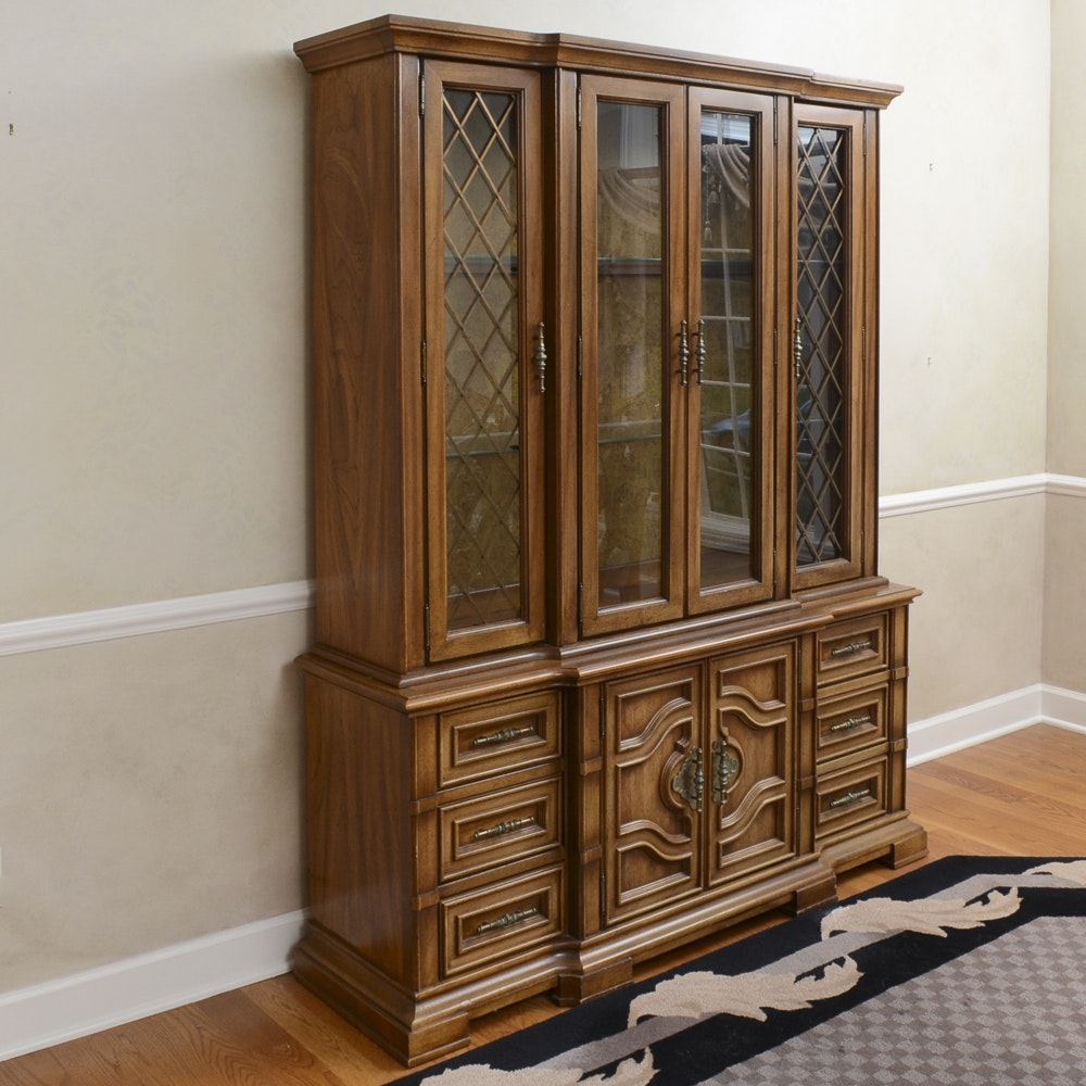 Stanley Furniture Two Piece Breakfront China Cabinet ...