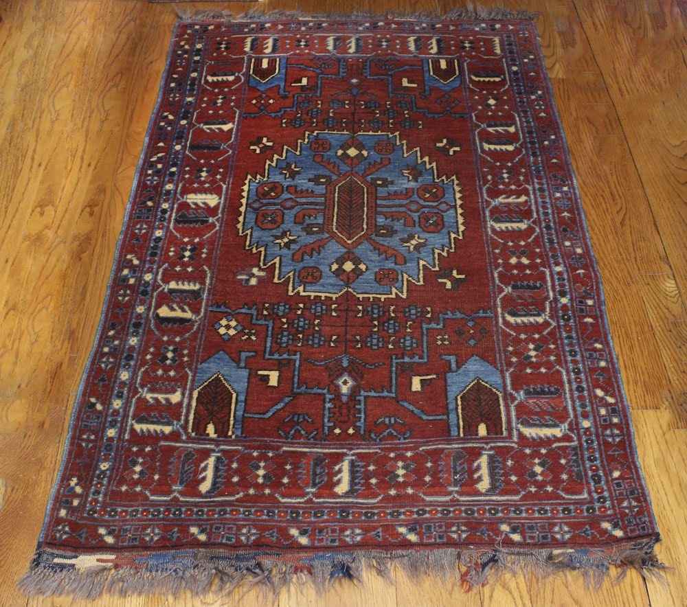 Hand-Knotted Kazak Wool Area Rug