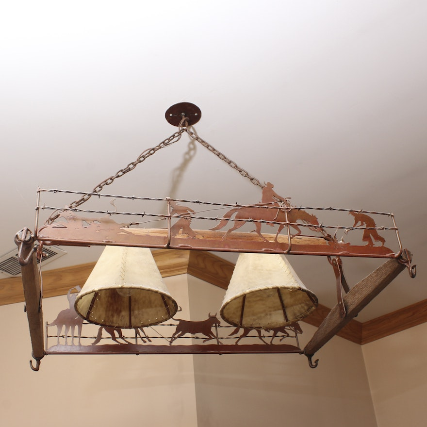 Cowboy Themed Chandelier