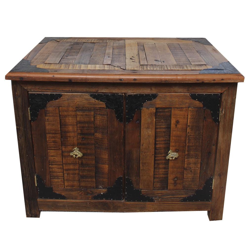 Rustic Wooden Two Door Chest ...