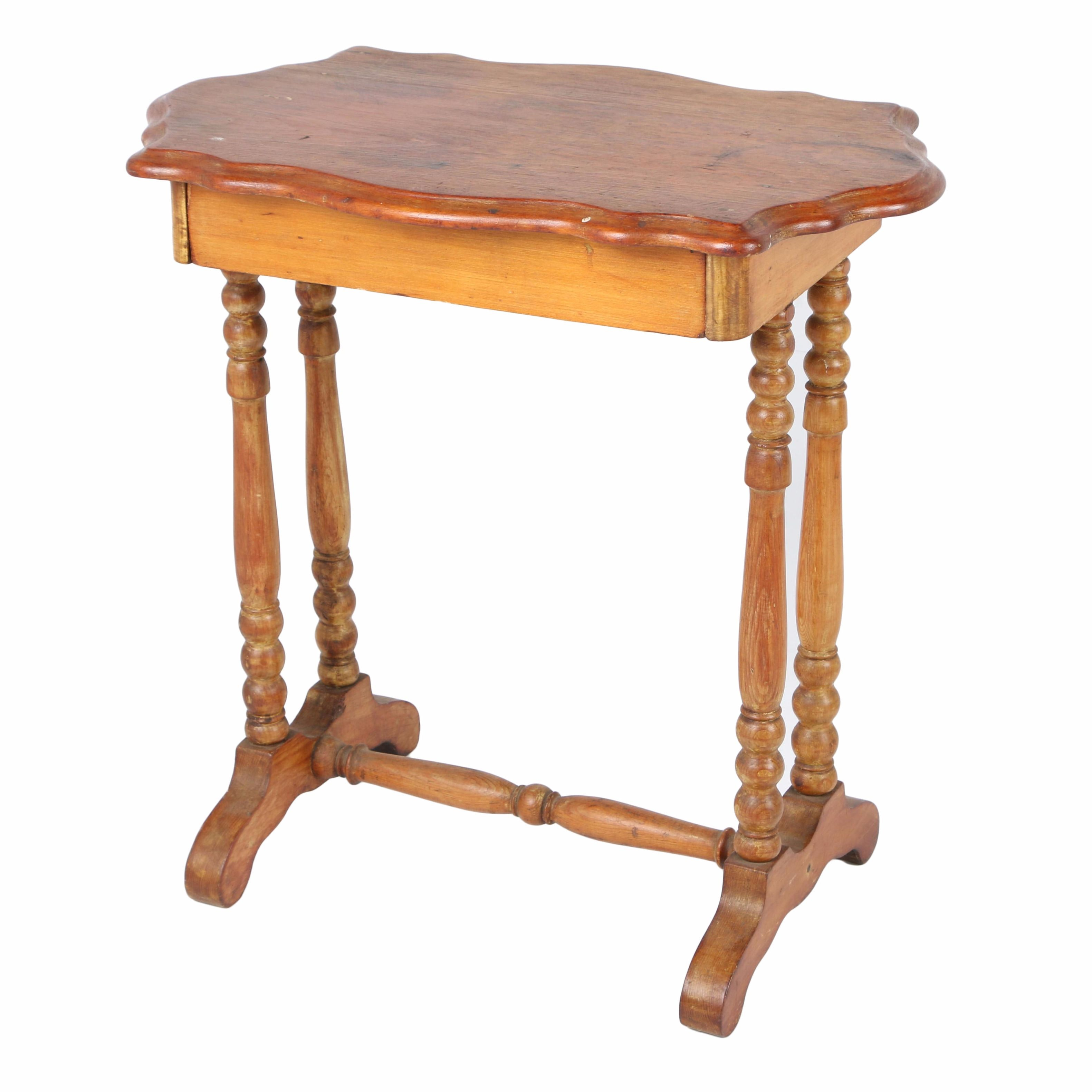 Antique William and Mary Style Side Table