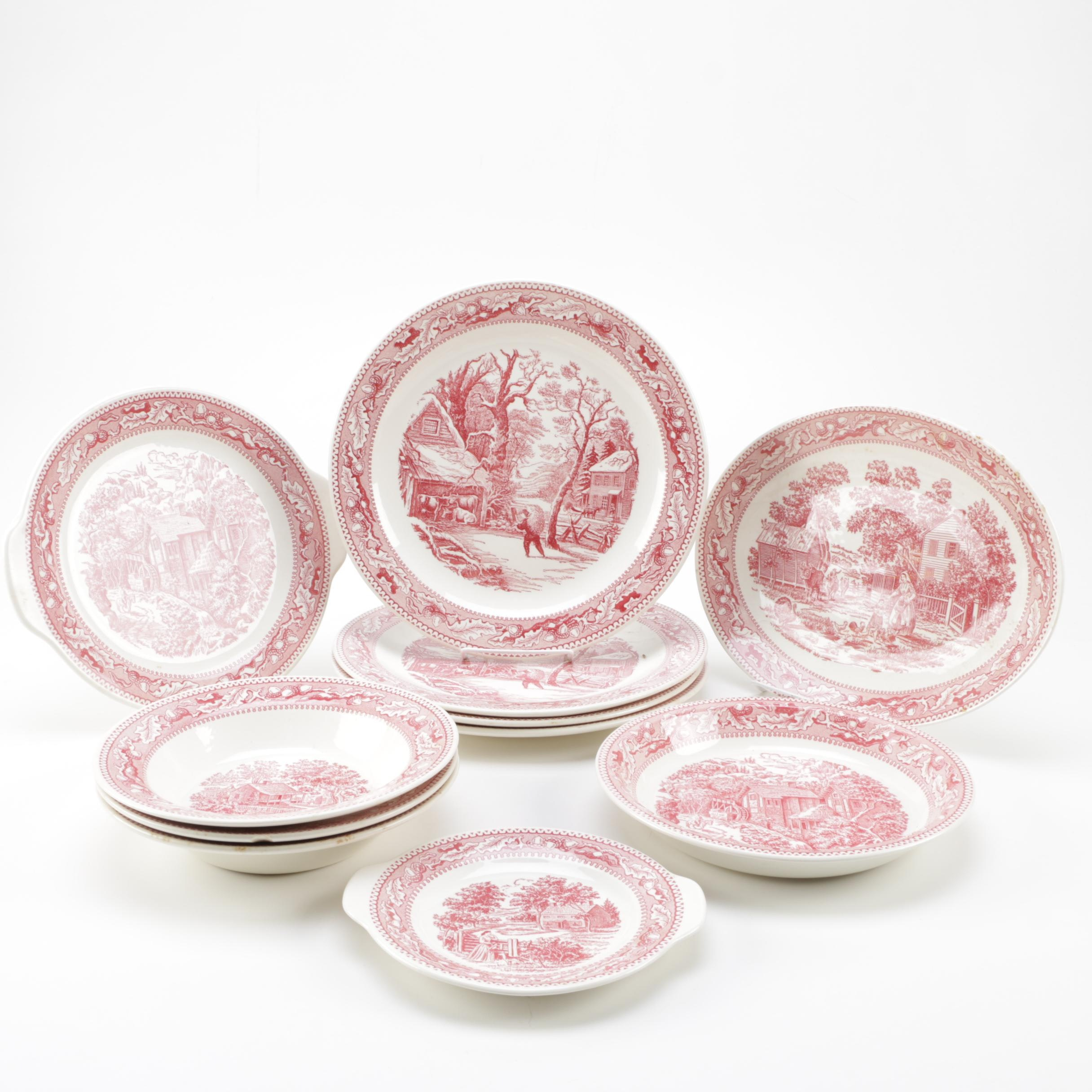 "Royal Ironstone ""Memory Lane"" Serveware"