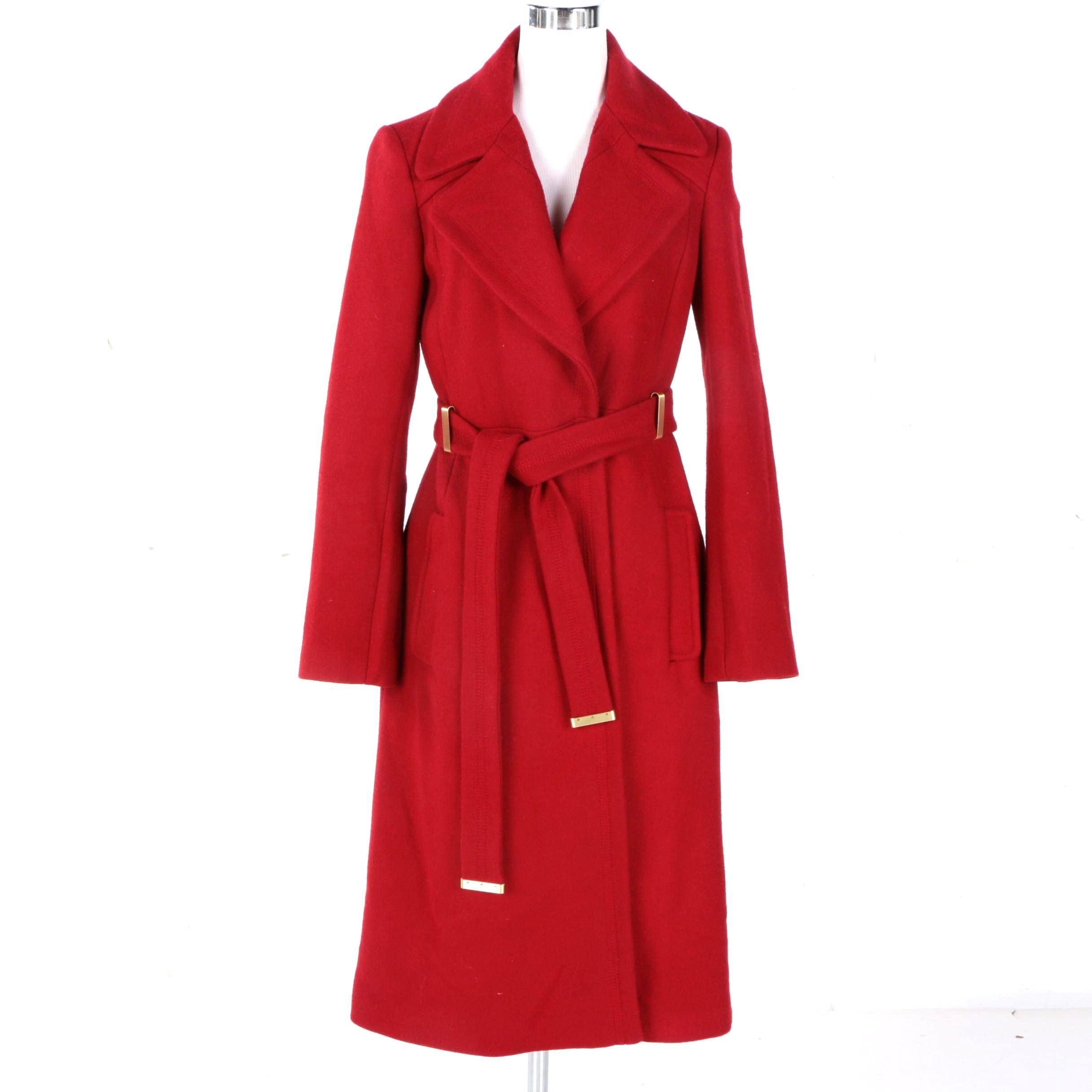 Highland Auto Sales >> Women's Diane von Furstenberg Red Wool/Blend Overcoat : EBTH