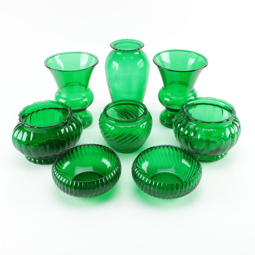 Green Glass Vases Including Napco And Brody Ebth