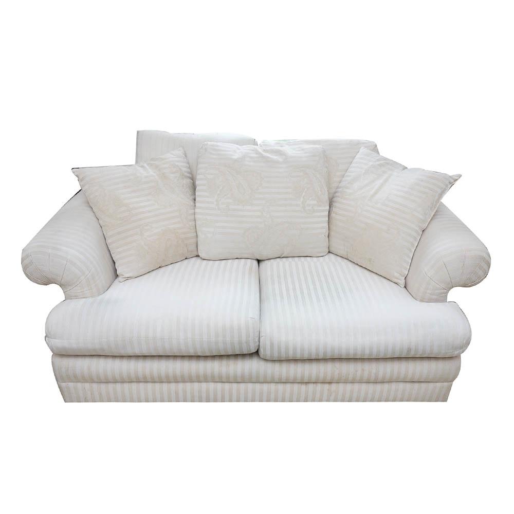 Beige Striped Sofa From Lazarus