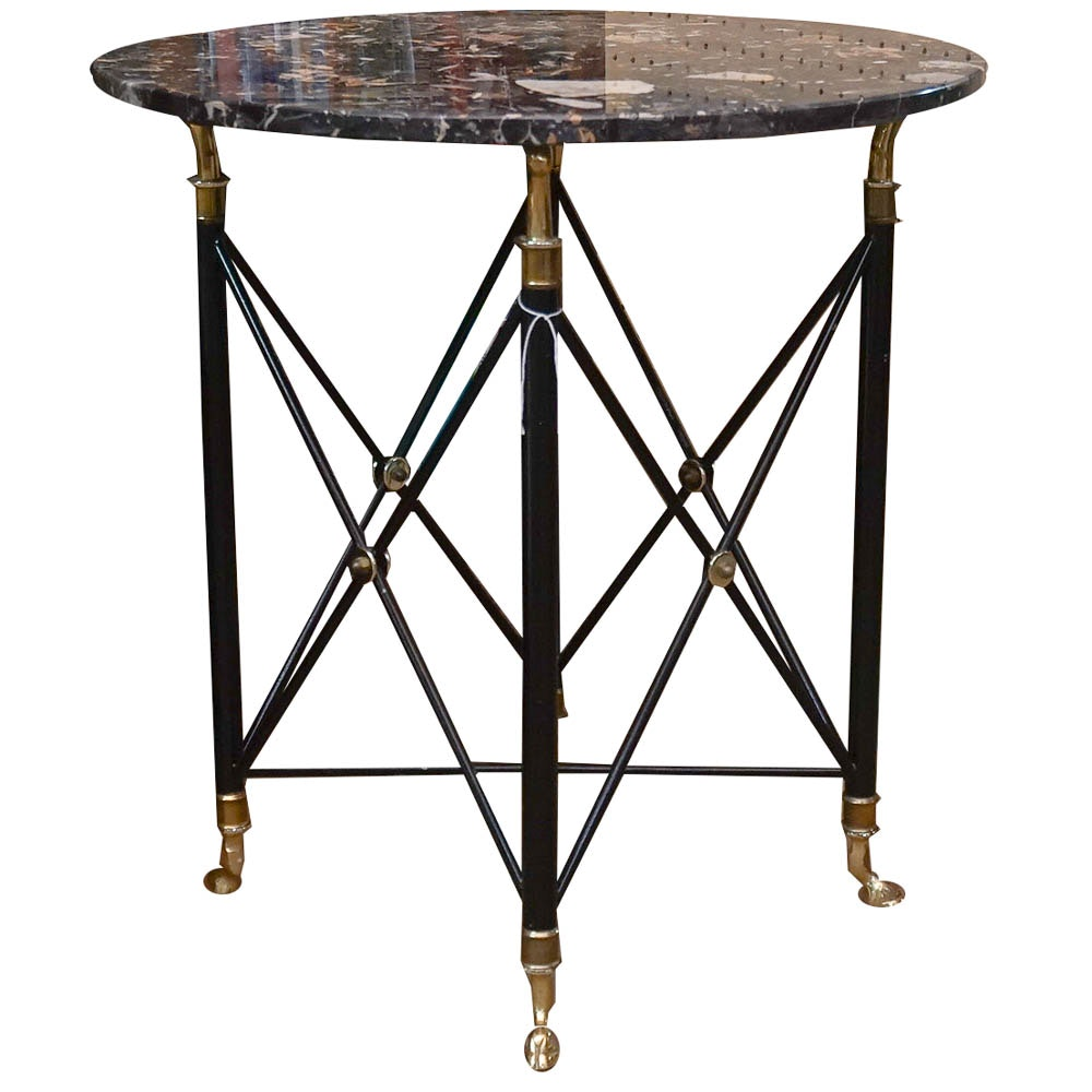 Regency Style Marble Top Occasional Table