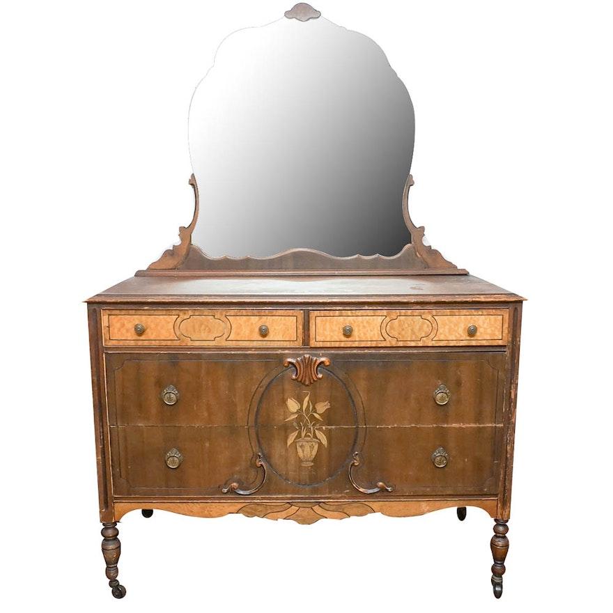 Antique Art Nouveau Vanity Dresser