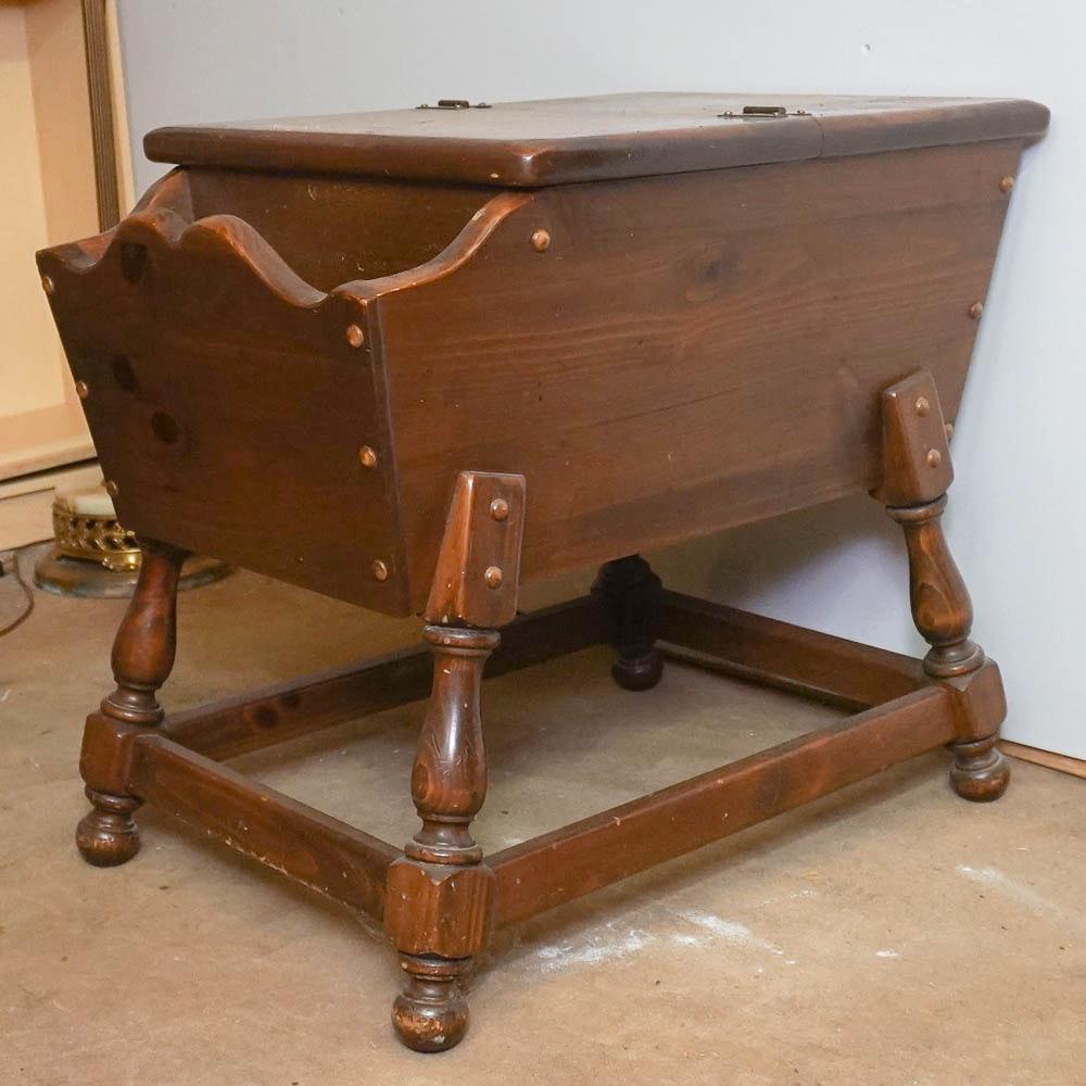 Pine Dough Box Side Table