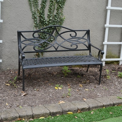 Black Aluminum Garden Bench