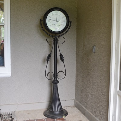 Metal Patio Clock/Thermometer