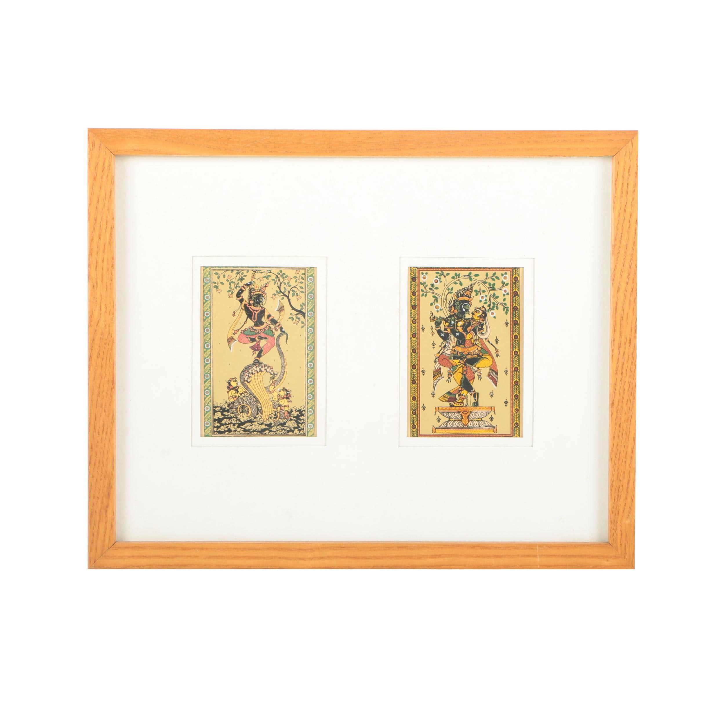 Southeast Asian-Inspired Serigraphs of Deities