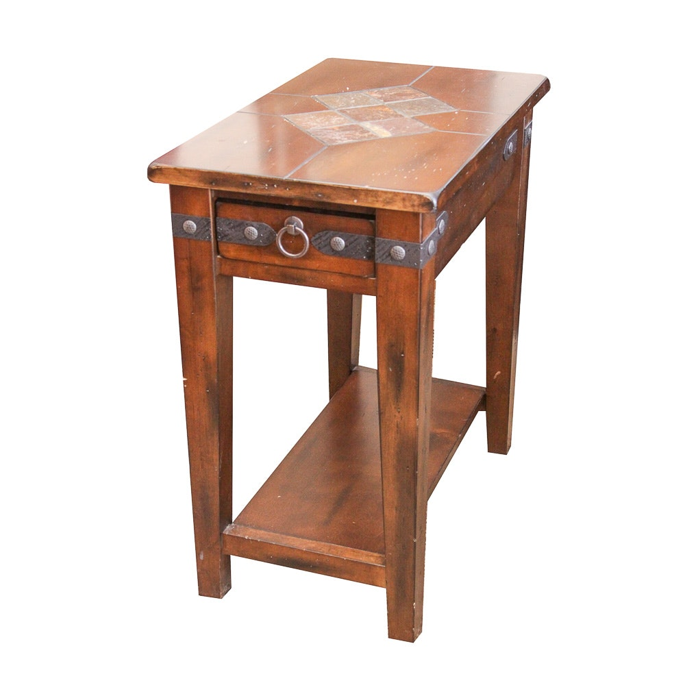 Contemporary Mission Style Accent Table ...