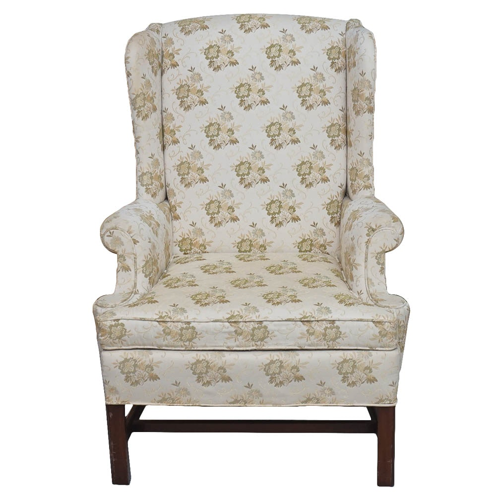 Chippendale Style Wing Back Chair by Hickory Chair