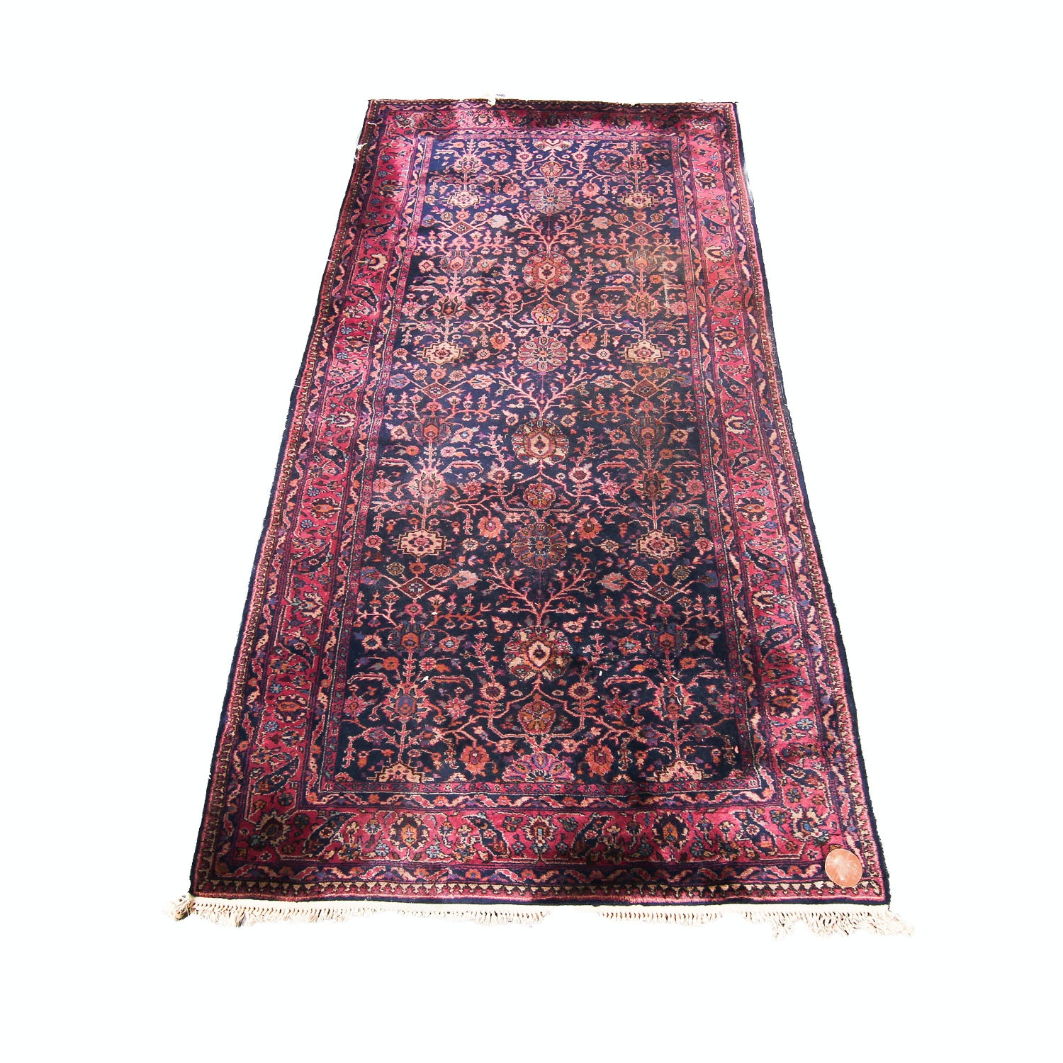 Hand-Knotted Turkish Floral Wool Area Rug