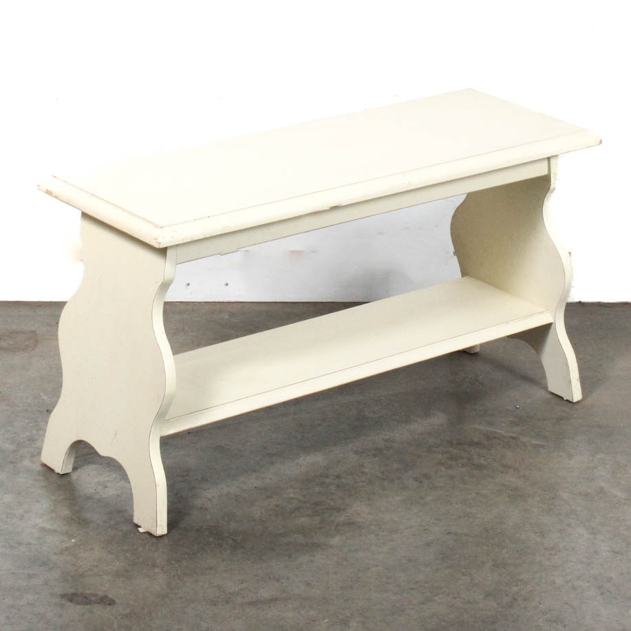 painted wooden bench by ballard designs ebth
