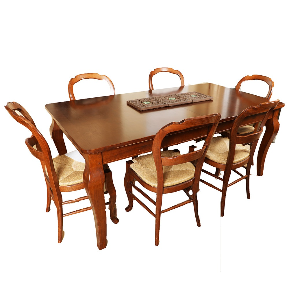 Dining Room Table with Six Dining Chairs