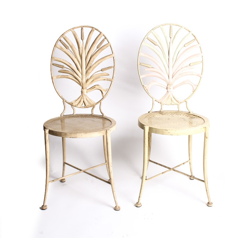 Pair of Wheat Themed Chairs