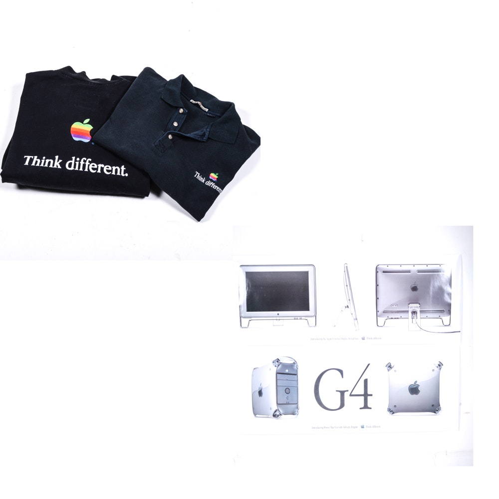 Apple Posters, Jacket, and Polo Shirt