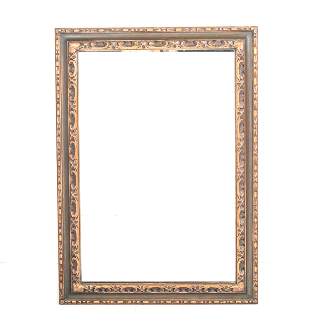 Carved Wood Frame Wall Mirror