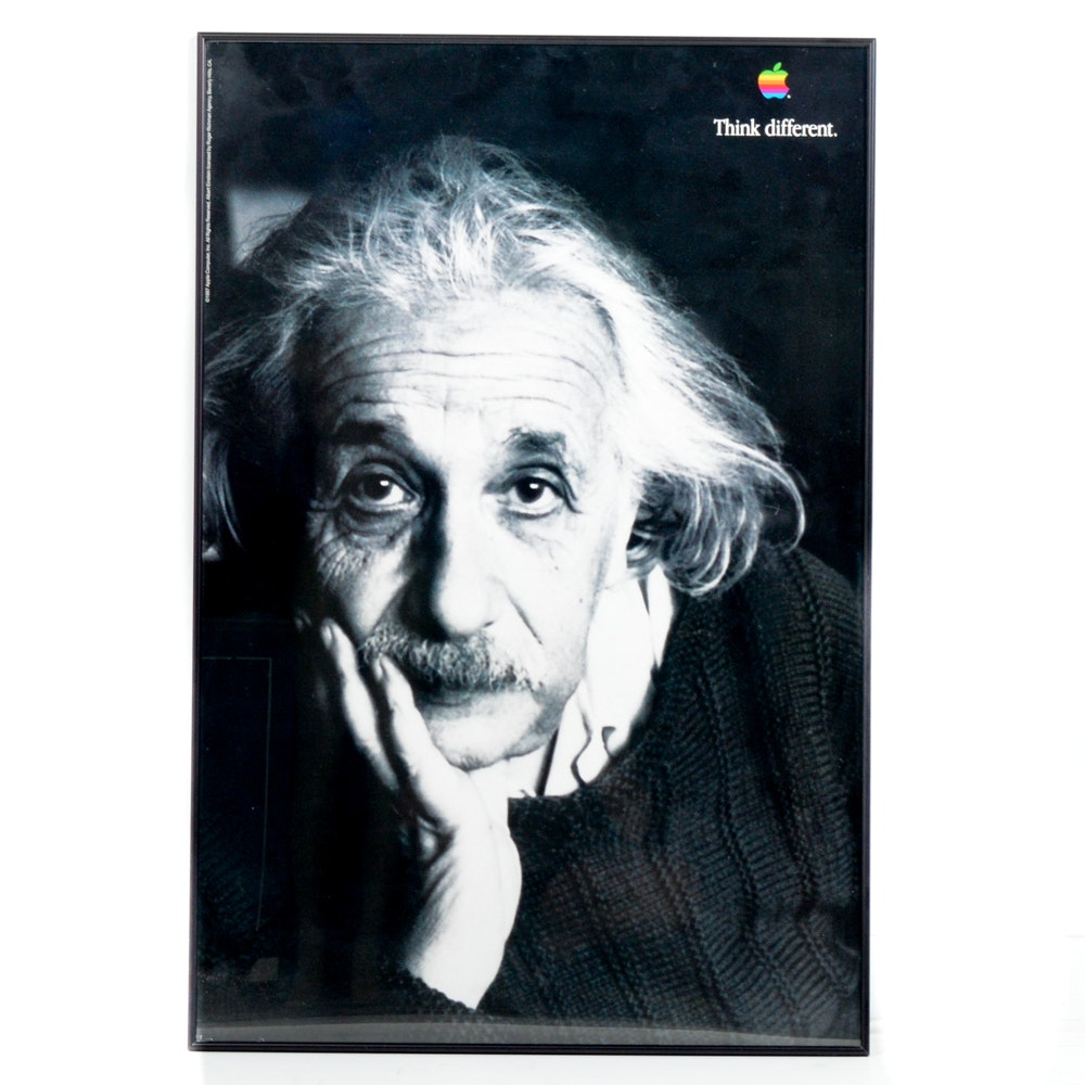 "Apple ""Think Different"" Albert Einstein Poster"