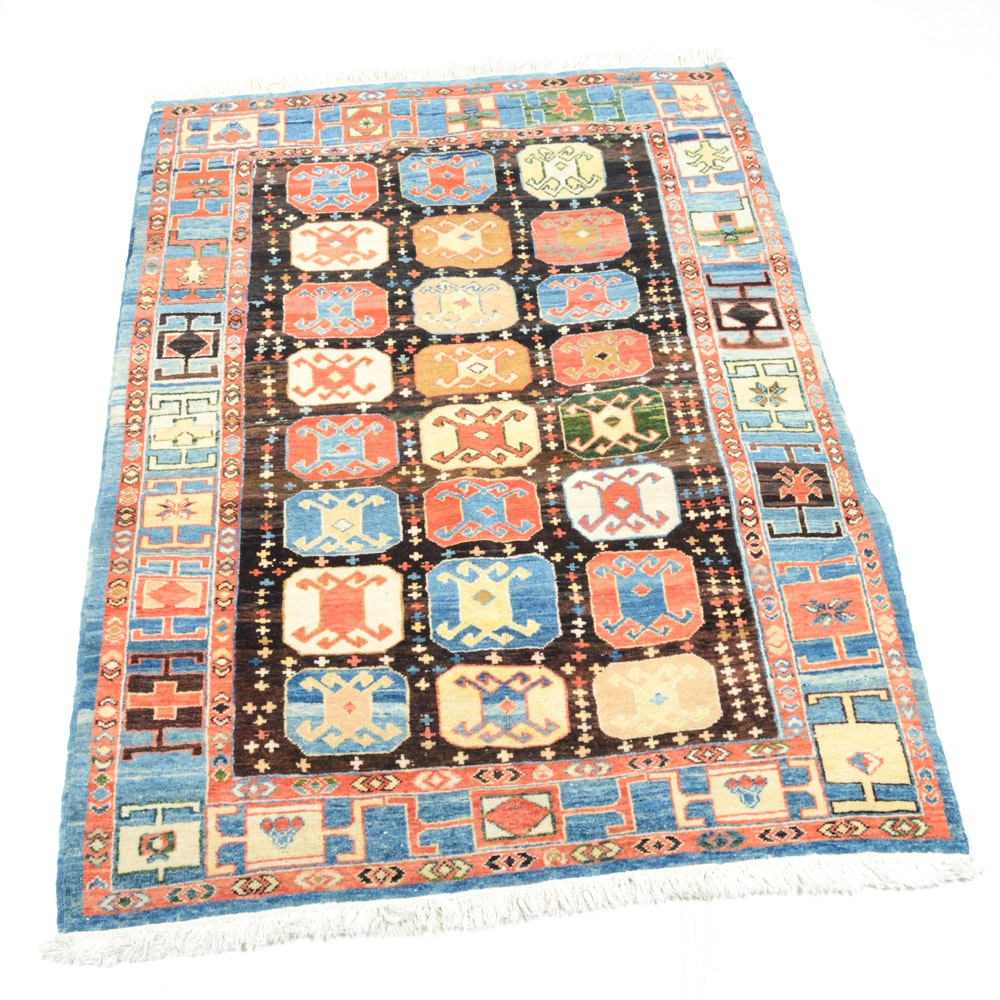 Hand Knotted Turkish Afshar Area Rug