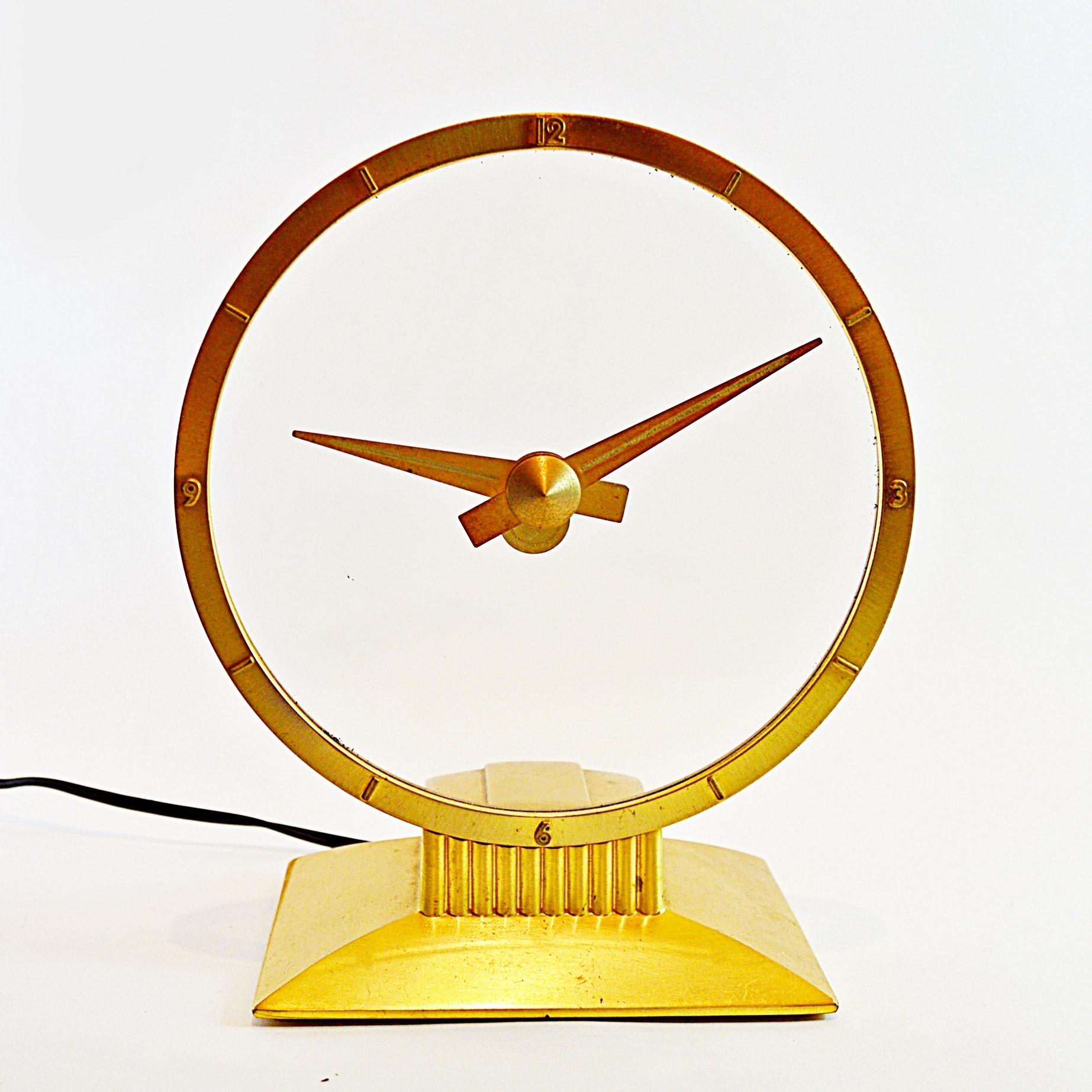 "Jefferson ""Golden Hour"" Art Deco Electric Clock"