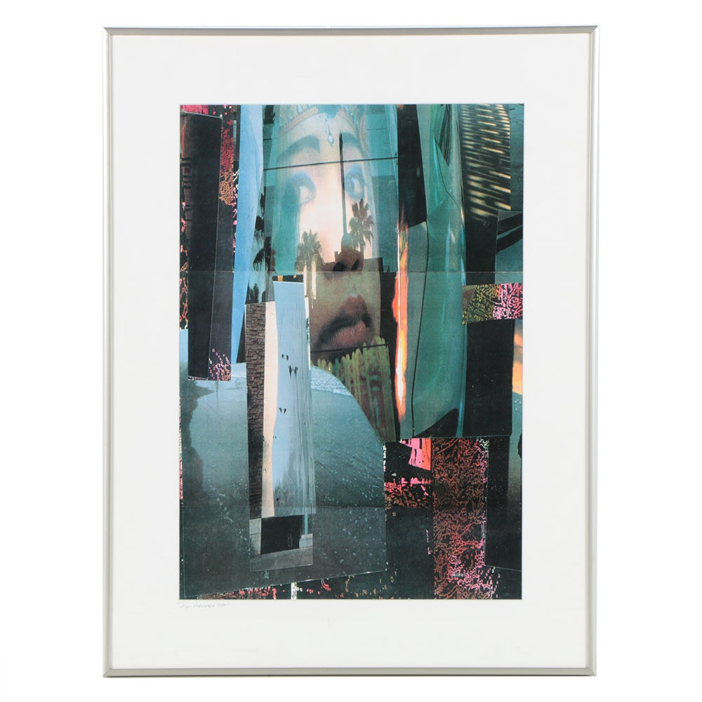 """Don Werner Photograph Collage on Paper """"Santa Monica Memory"""""""