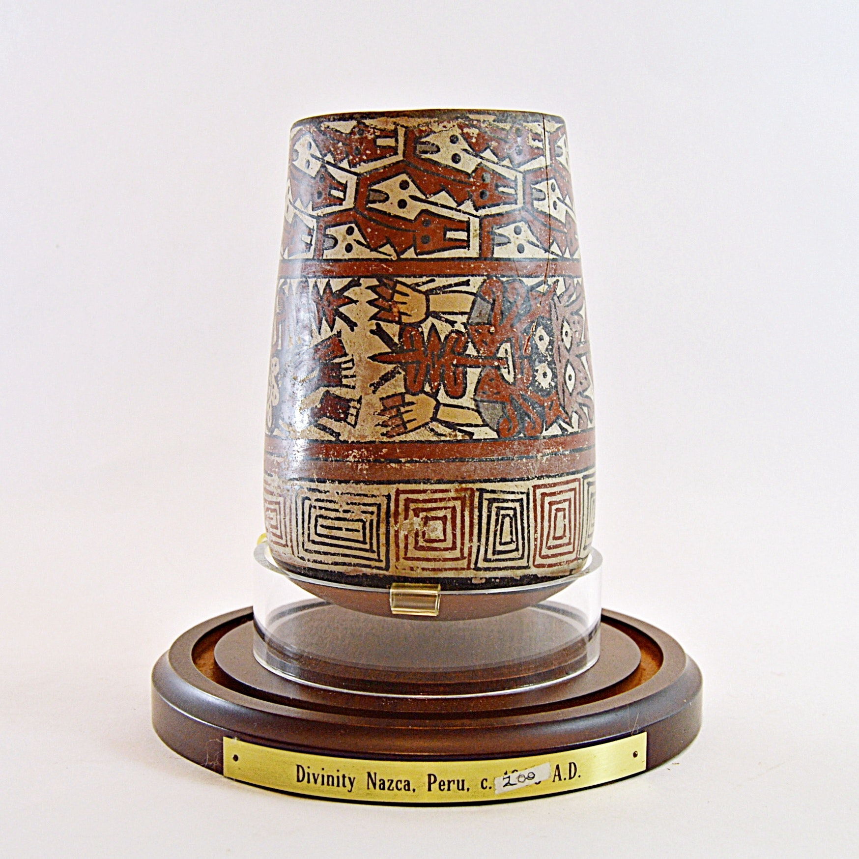 Pre Columbian Peruvian Nazca Pottery Vase