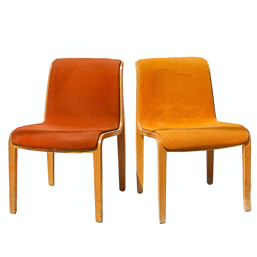 mid century modern bentwood chairs by knoll ebth