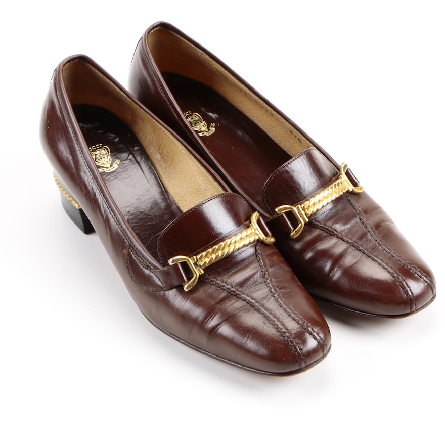 39fe96e32 Women's Vintage Gucci Heeled Loafers : EBTH