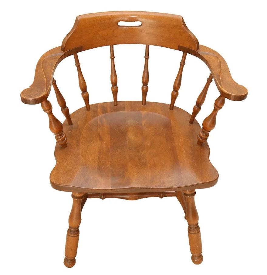 Vintage Ethan Allen Quot Early American Quot Captians Chair Ebth