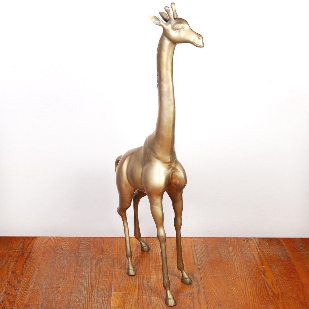 Bronze Giraffe Sculpture