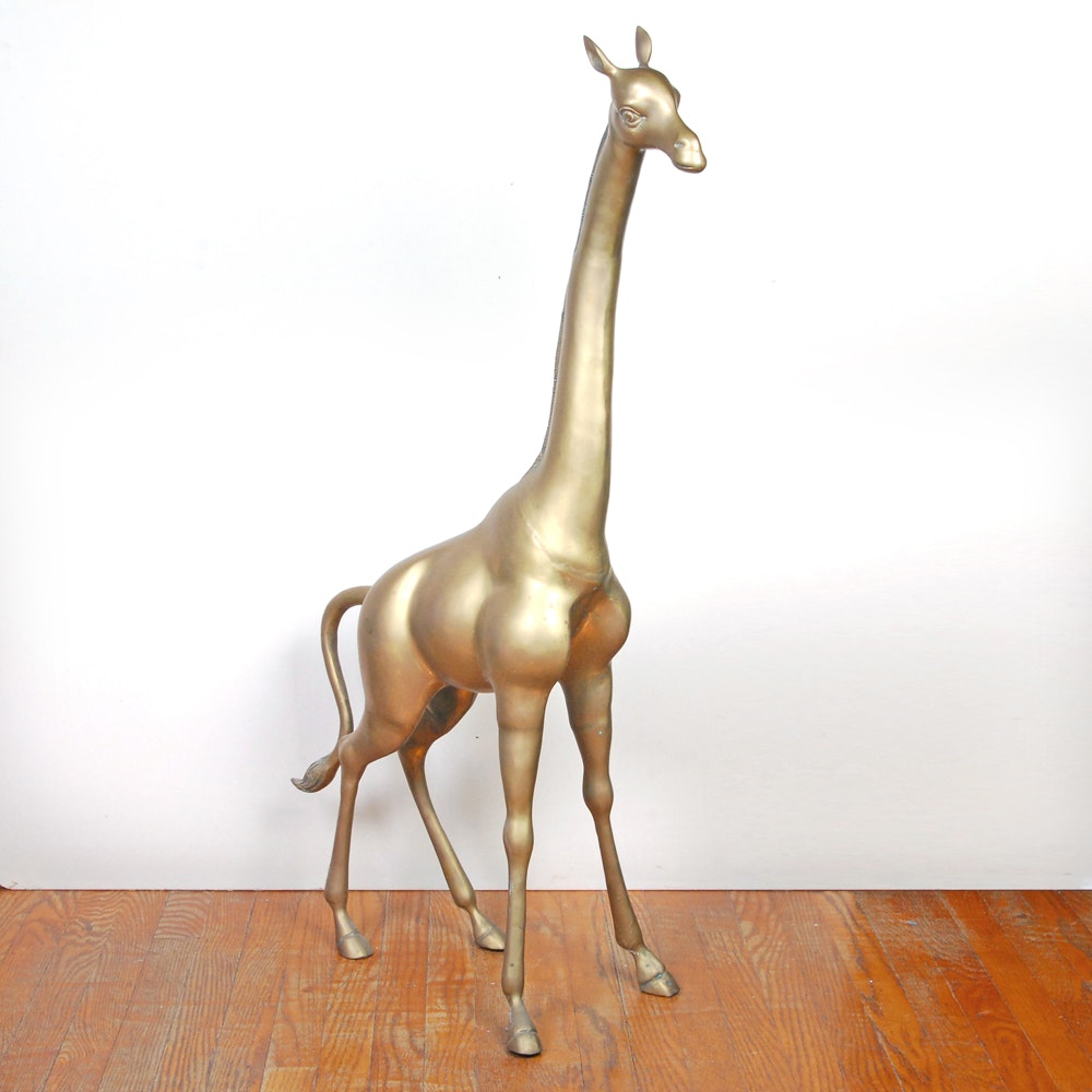 Bronze Giraffe Sculpture