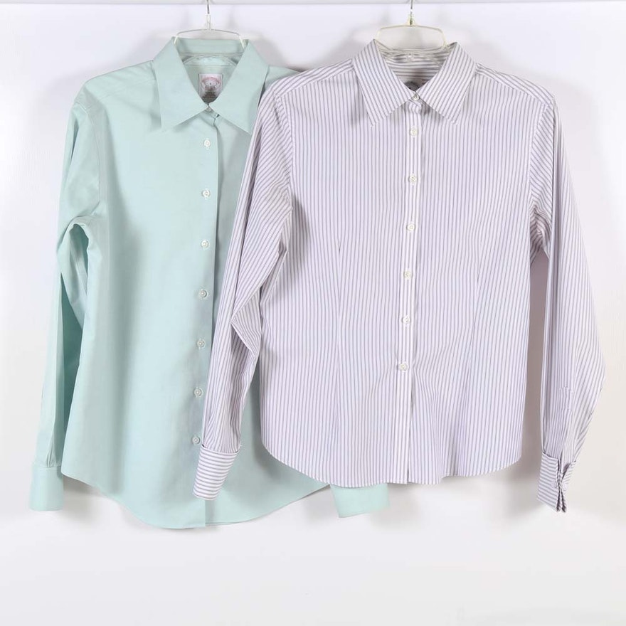 Women 39 s brooks brothers button down dress shirts ebth for Women s button down dress shirts