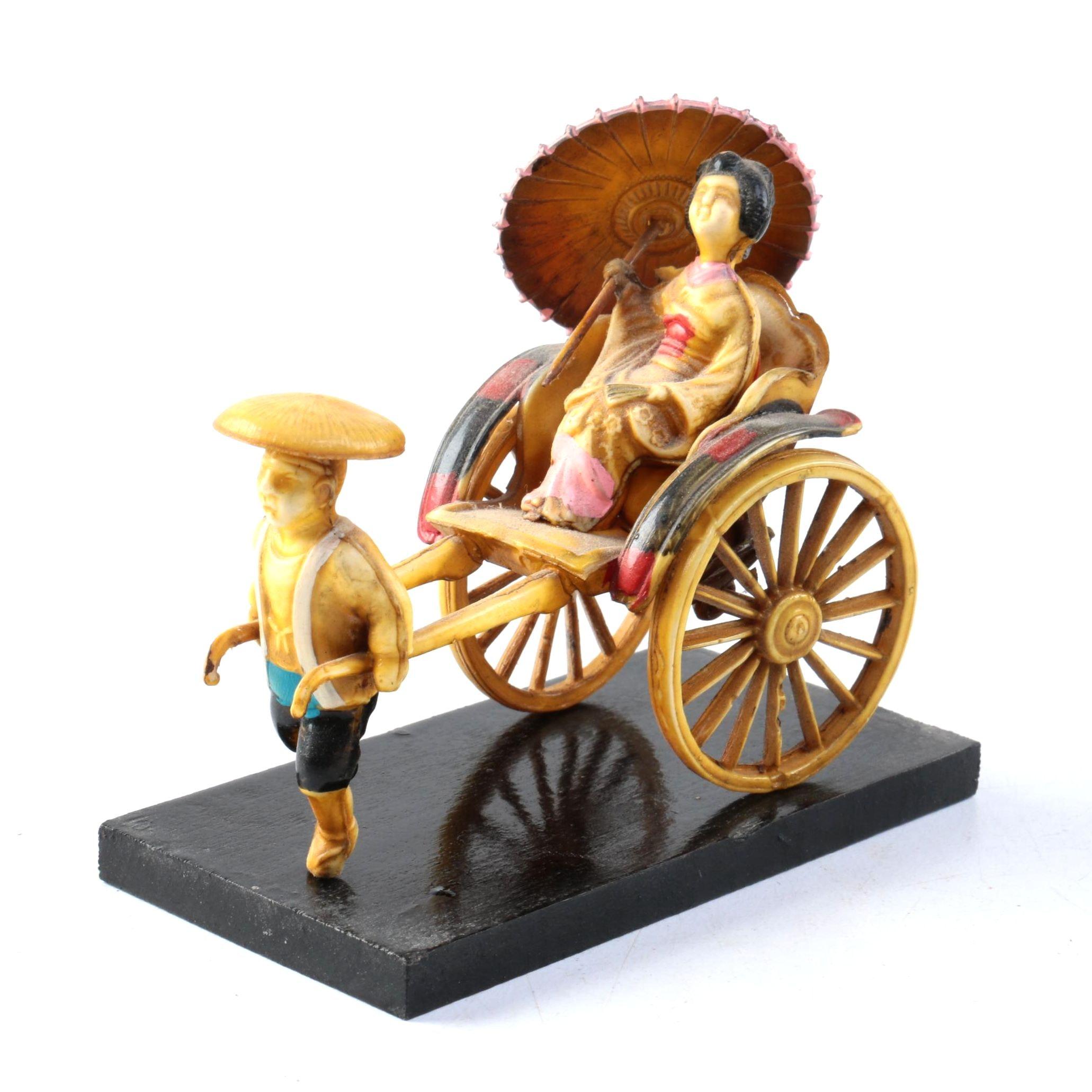 Vintage Japanese Trolley Cart Figurine