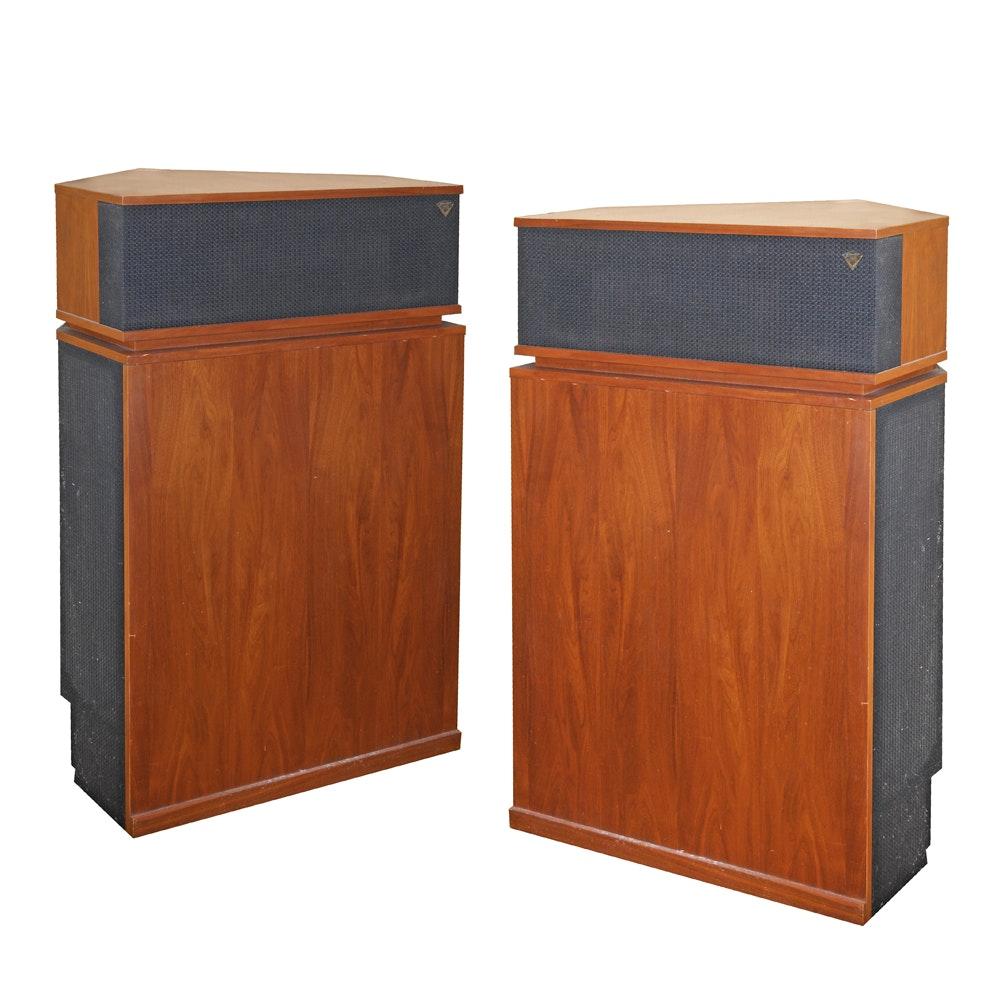Pair of Vintage Klipschorn K-B-WL Floor Standing Corner Horn Speakers