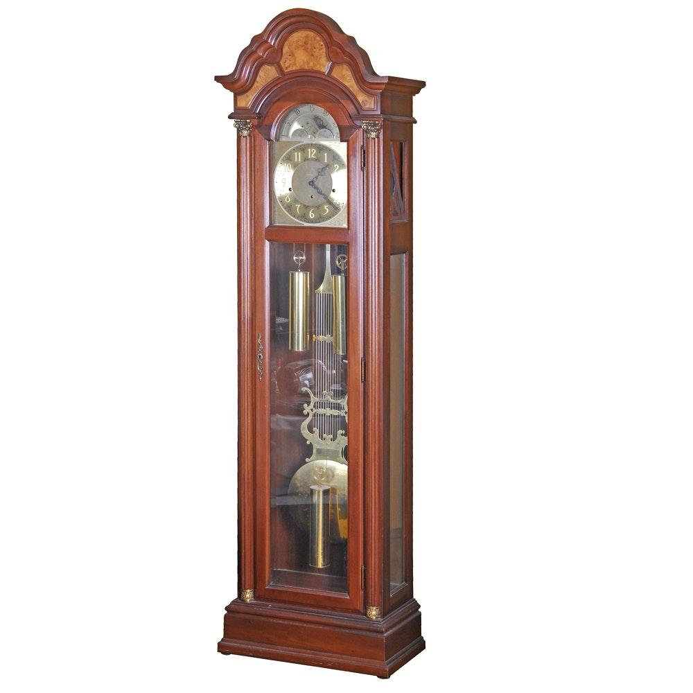 Pearl Cherry and Walnut Grandfather Clock