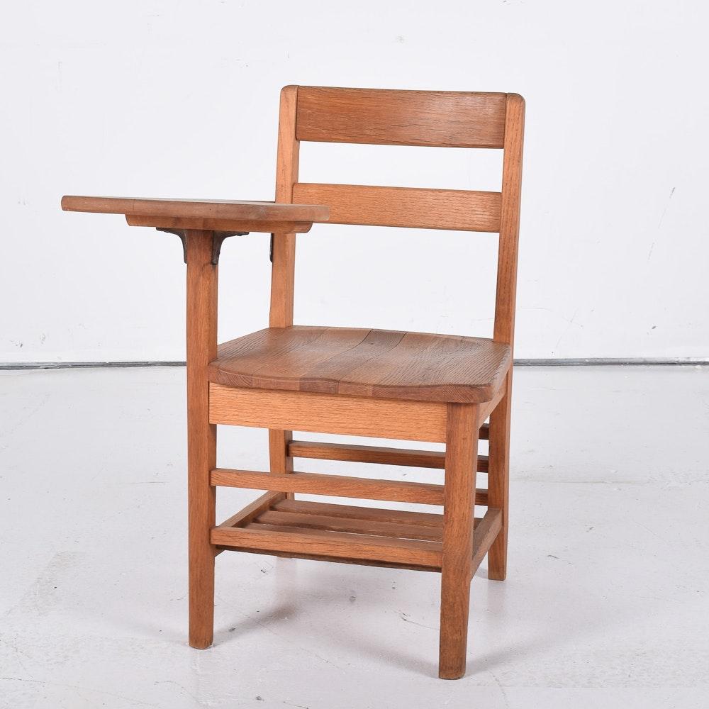 Oak Student Desk Chair