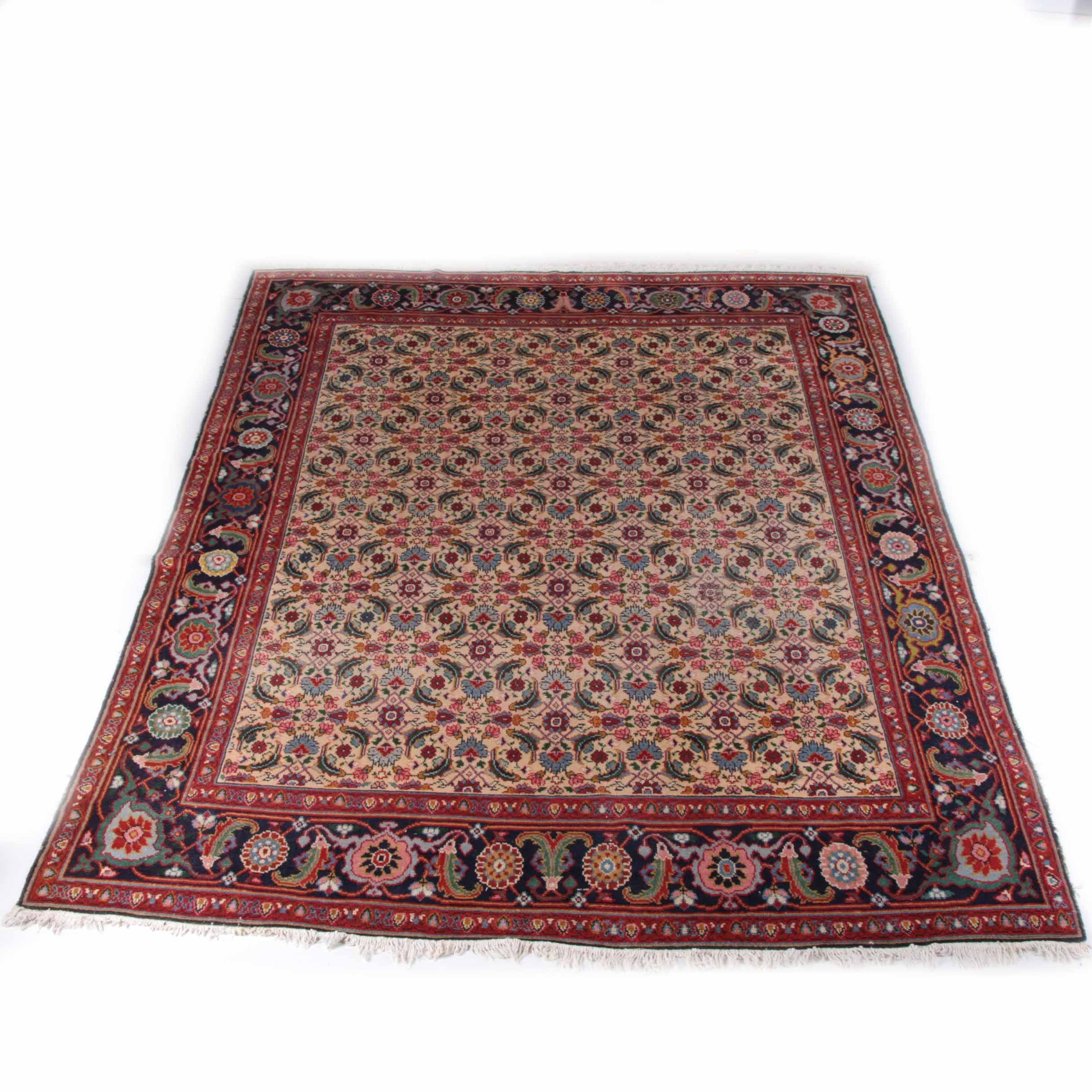 Hand-Knotted Indo-Bijar Wool Area Rug