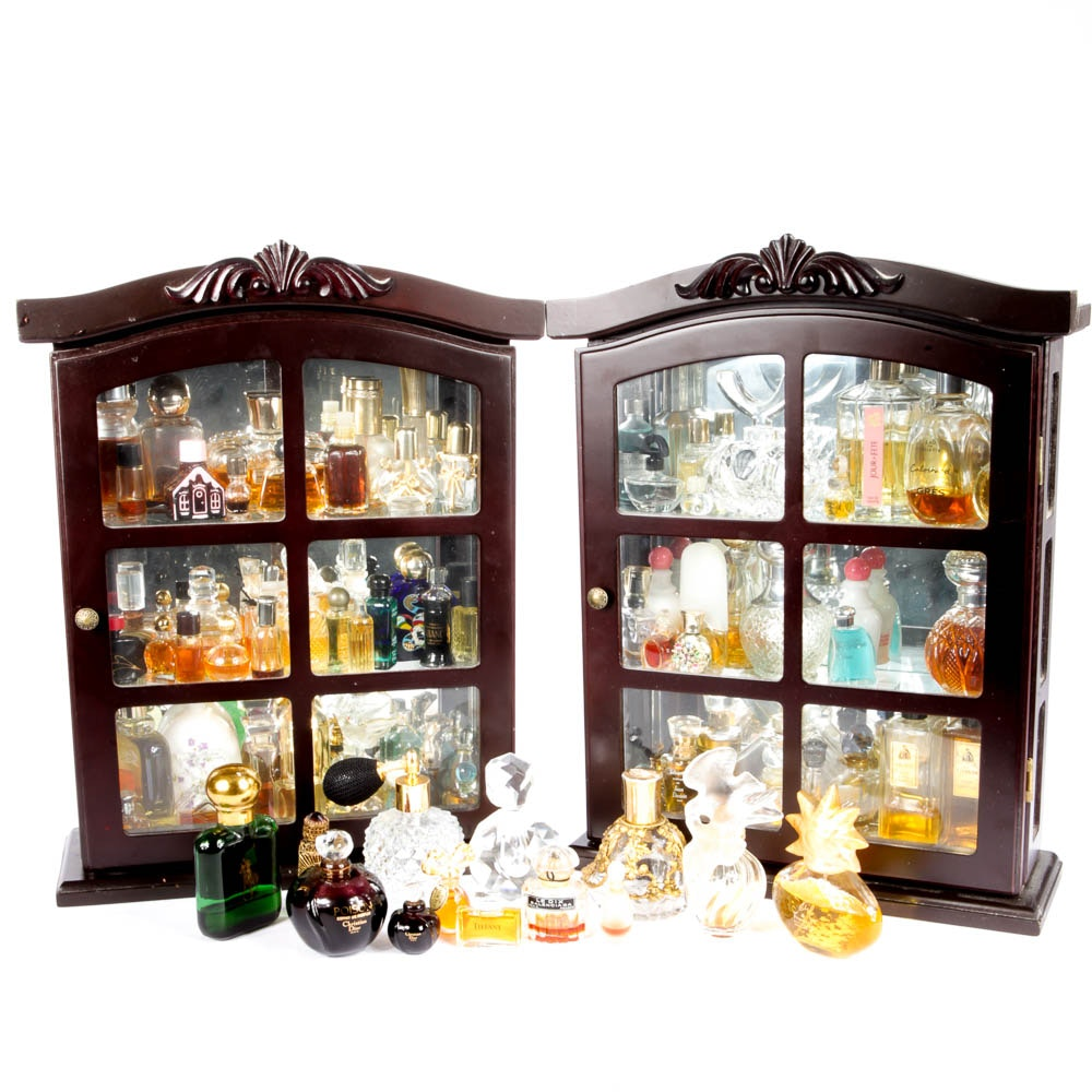 Large Collection Of Perfume Bottles And Display Cabinets ...