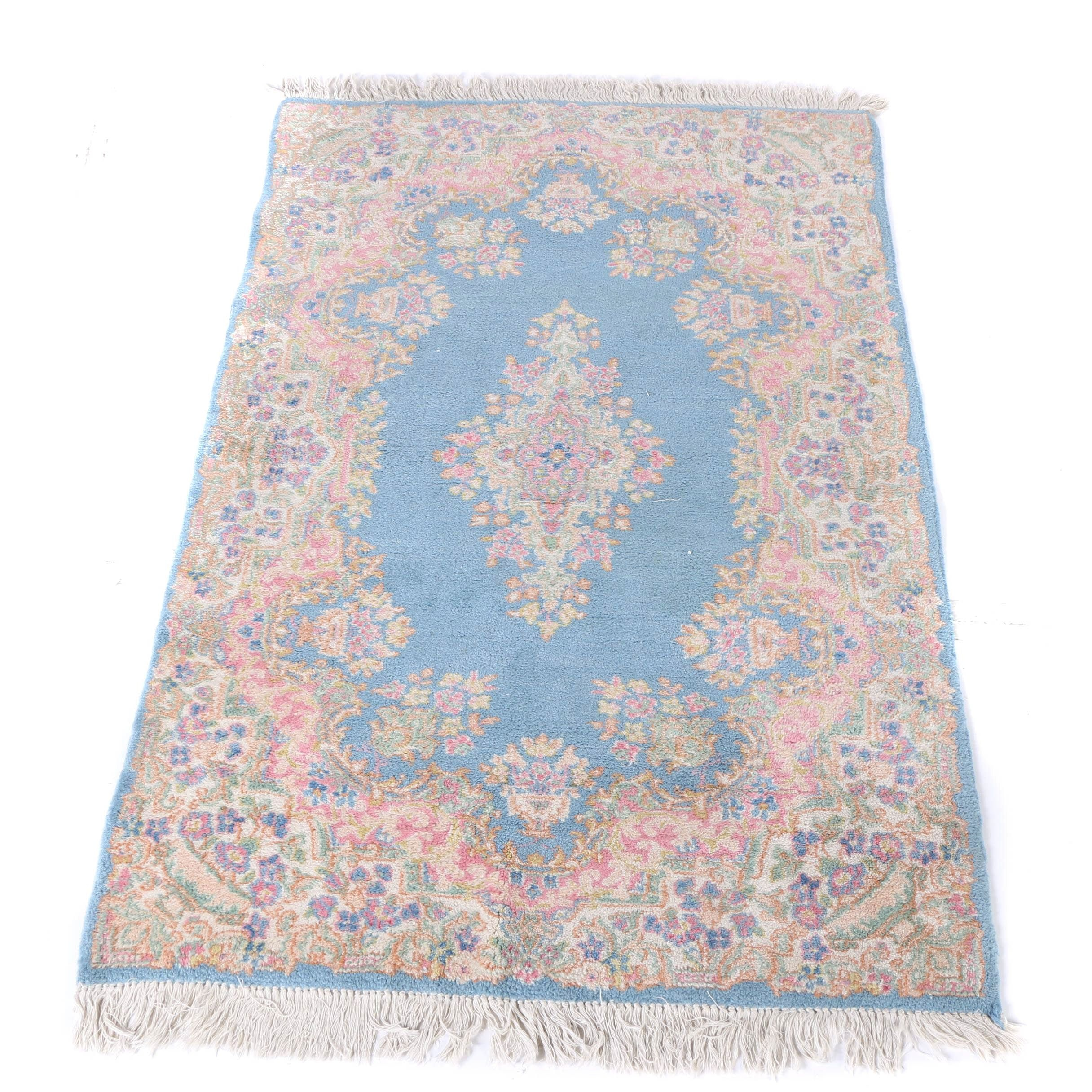 Hand-Knotted Indo-Persian Kerman Area Rug