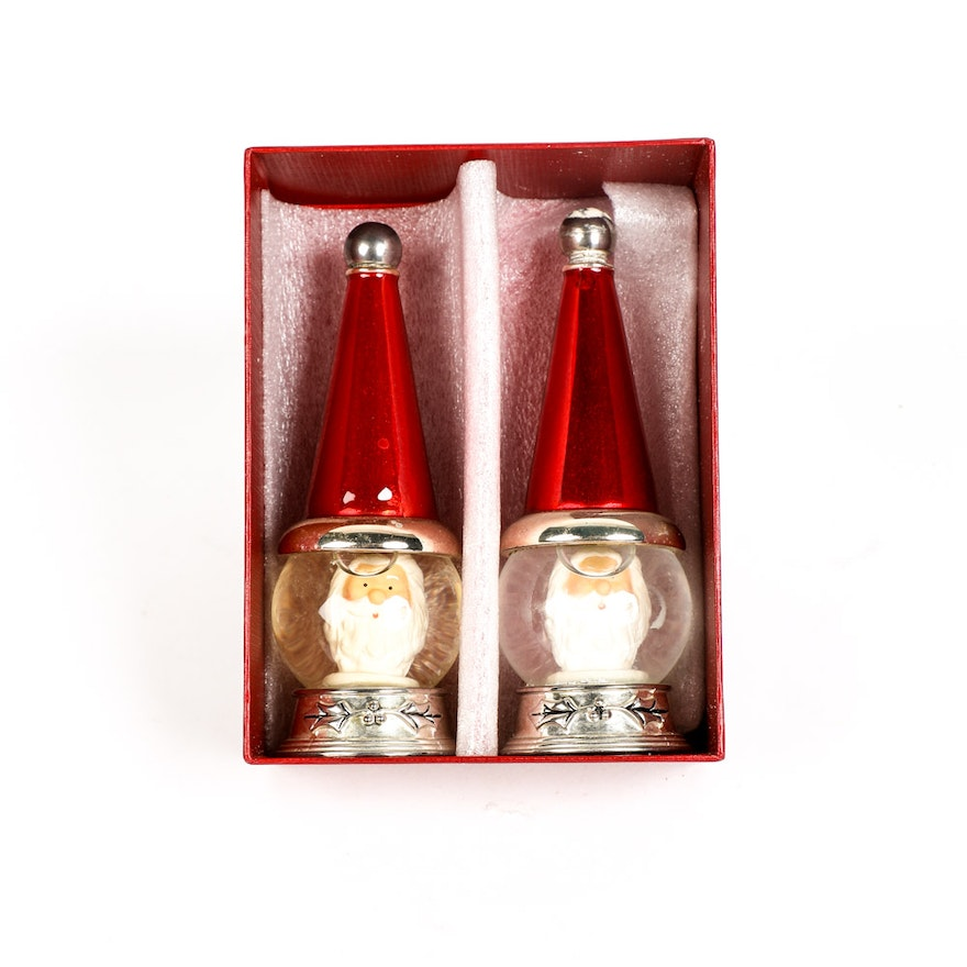 Neiman Marcus Pink Home Decor Ebth: Silver Plate Santa Claus Salt And Pepper Shakers By Towle