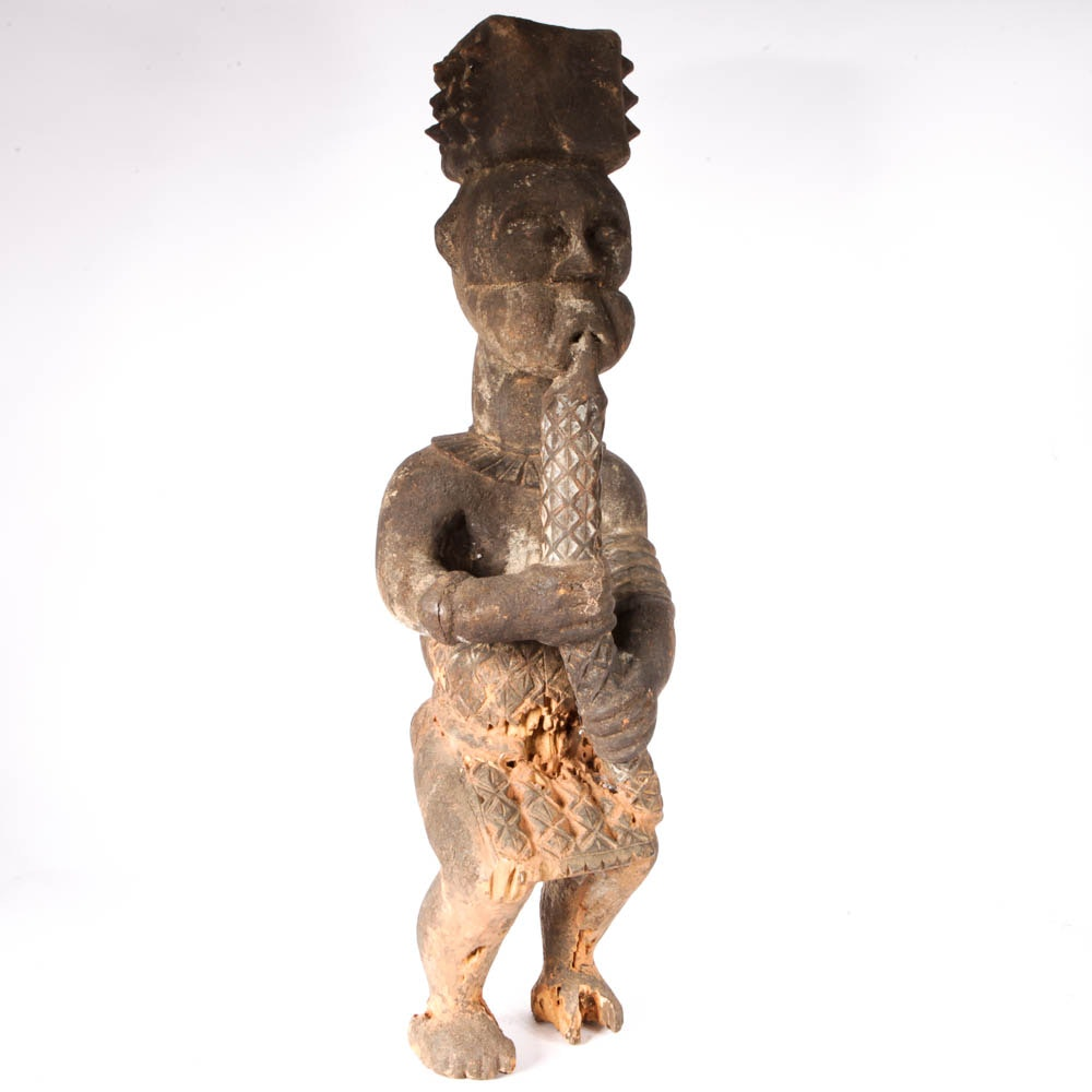 Bagua African Male Figure Wood Carving