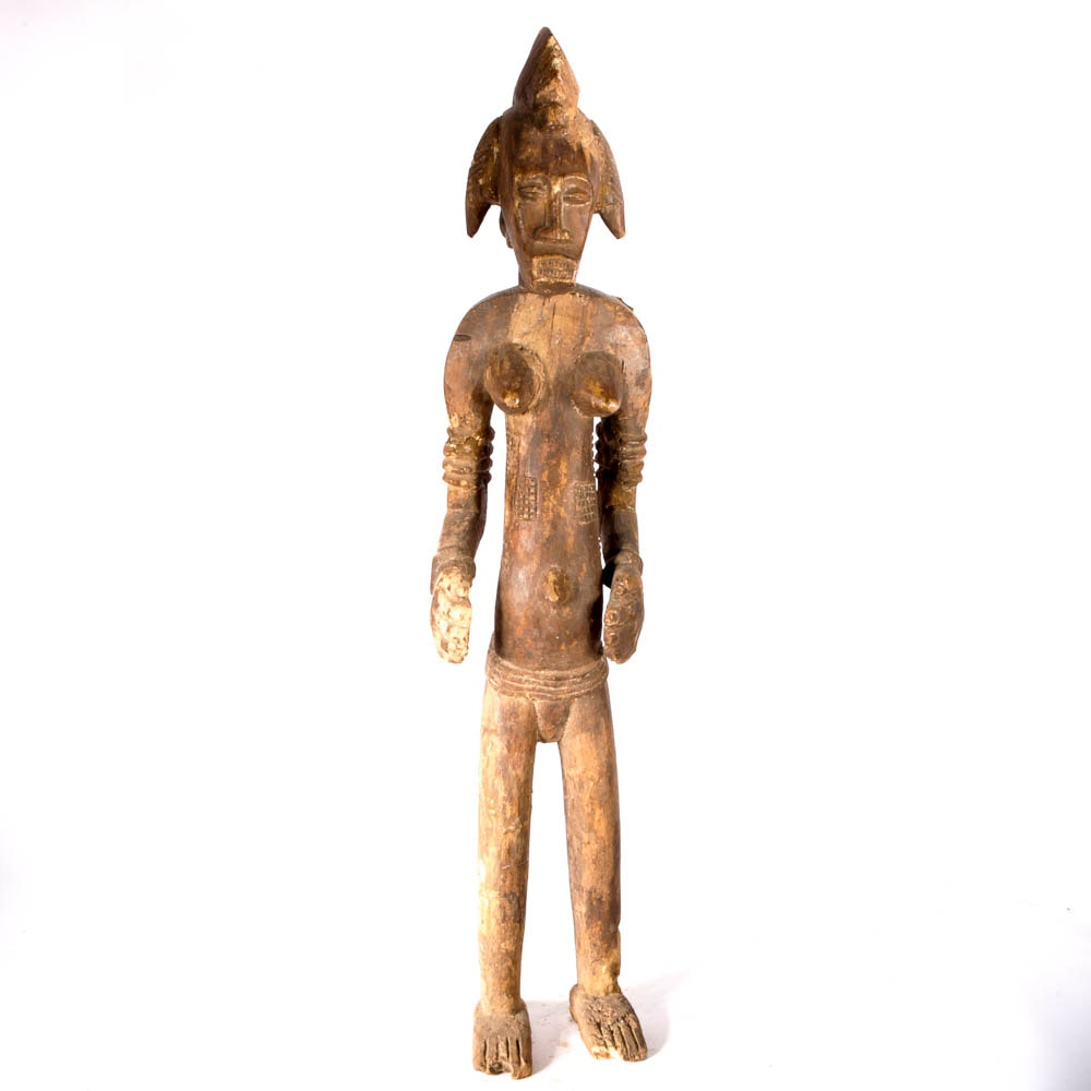 Senufo African Wood Carved Statue