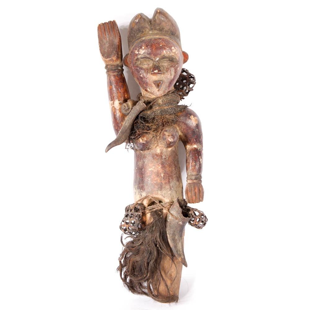 Vintage Vuvi Tribe, Gabon, African Wood Carved Fetish