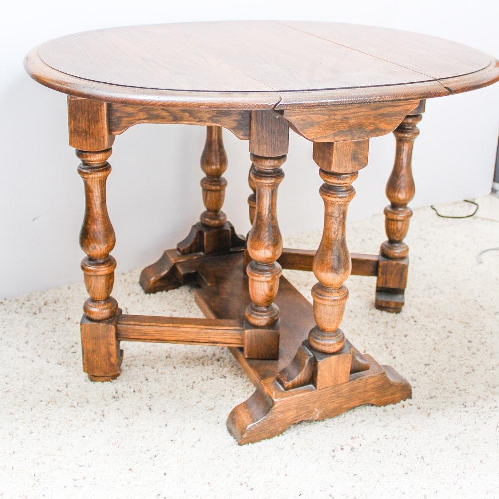 Oak Gateleg Side Table